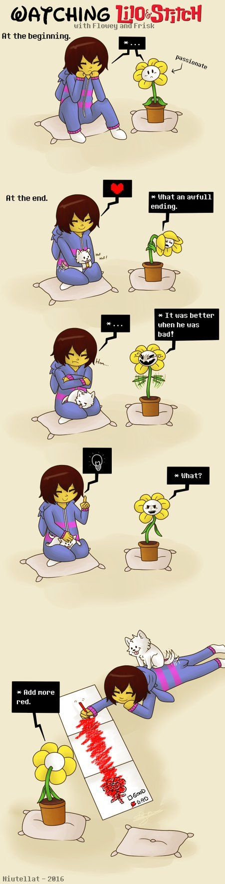 Undertale Comic - Lilo and Stitch by Niutellat