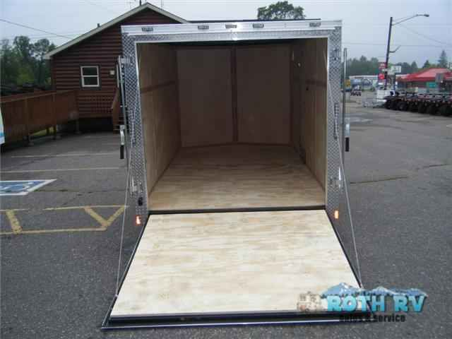 """2016 New Forest River Rv Continental Cargo 7x12V Ramp Default in Minnesota MN.Recreational Vehicle, rv, 2016 Forest River RV Continental Cargo 7x12V Ramp, .024 White Aluminum ExteriorRear Ramp Door12V Dome Light 9total of 2) with (1) wall switchLED Lights24"""" Aluminum Tread Plate Stoneguard"""