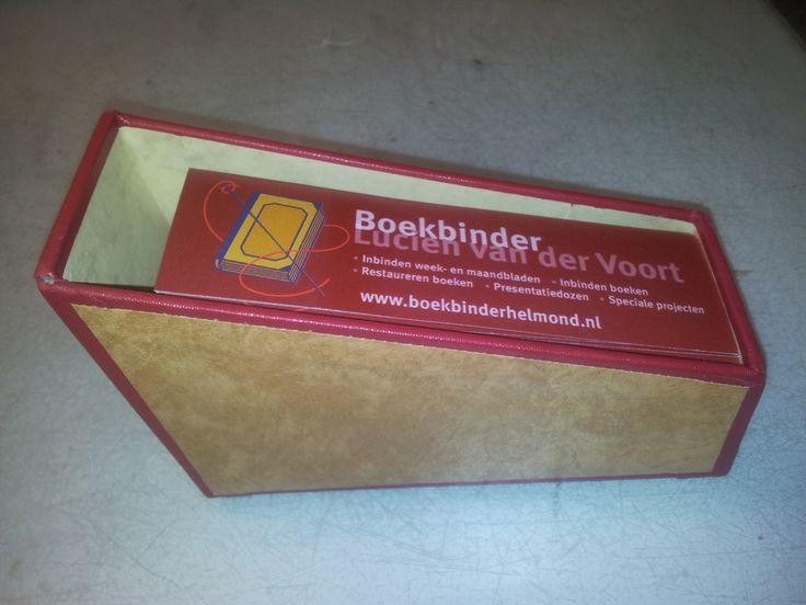 Presentatiedoos met boekenleggers