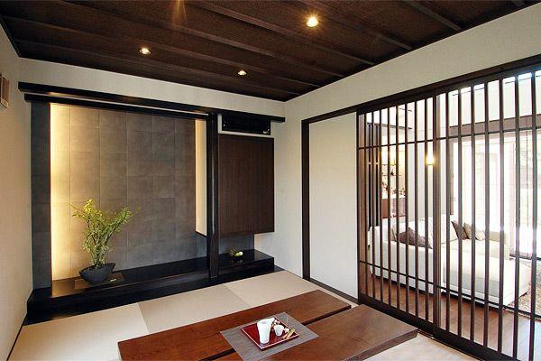 dark brown japanese room