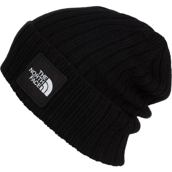 36c9375feb7 The North Face Logo Boxed Cuffed Beanie ( 27) ❤ liked on Polyvore featuring  accessories