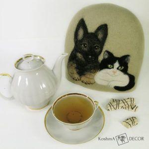 """Грелка для чайника """"Домашние питомцы"""""""