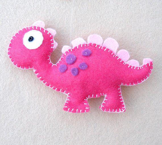 Dinosaurio fieltro móvil babys multicolor de móvil por FlossyTots