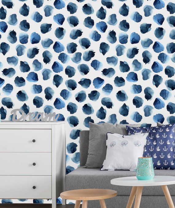 Blue Watercolor Flowers Background Removable Wallpaper Peel And Stick Wallpaper Wall Mural Self Adhesive Wallpaper Wall Wallpaper Watercolor Flower Background Removable Wallpaper