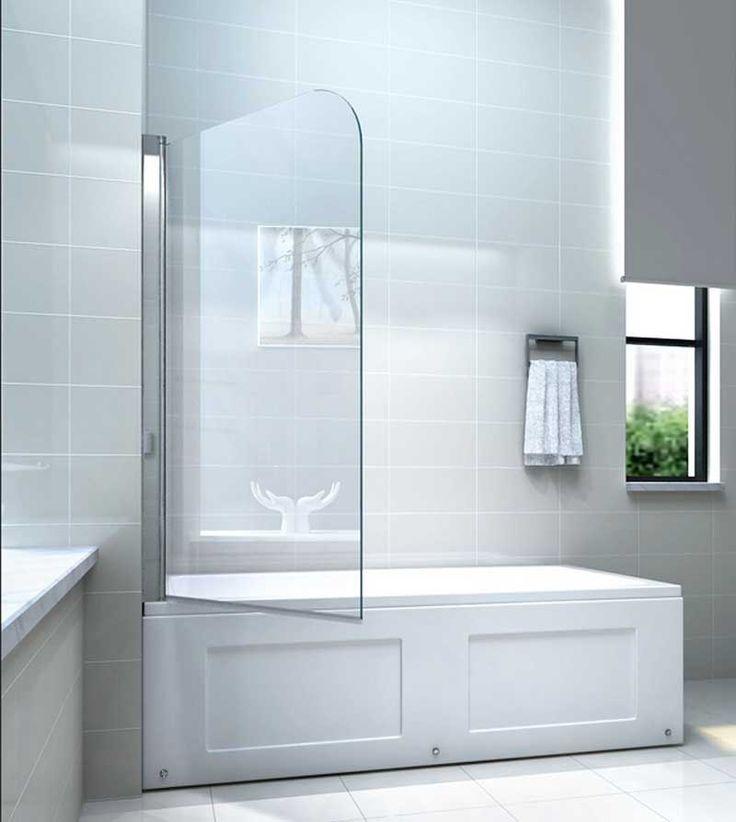 Glas duschwand für badewanne gestaltung mit pendeltechnik