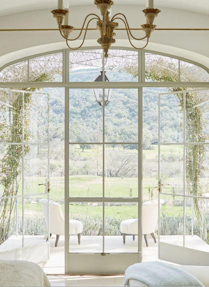 12 Living Room Curtain Ideas To Instantly Upgrade Your Interior In 2020 French Doors Interior French Country Farmhouse French Country House