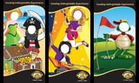 Illustration - 2m high Memory Boards Gold Reef City. Designed by Tea House Creative Marketing www.teahousemarketing.biz