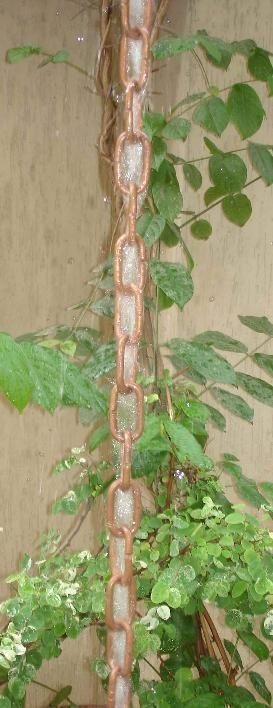 Traditional Link Rain Chains Rain Gutter Chain, Copper Rain Chain Downspout for Sale