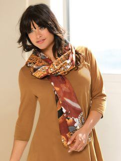 Foulard de viscosa mujer diseño estampado étnico