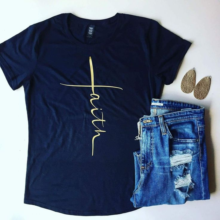 Faith Women's Blue T-Shirt