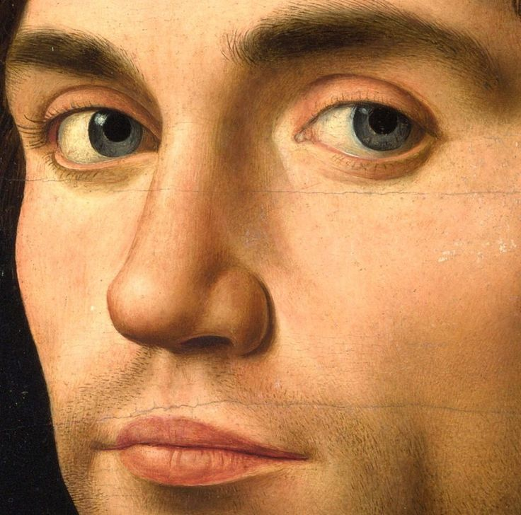 loverofbeauty:  Antonello da Messina:  Portrait of a man,  1475/76  (Detail)