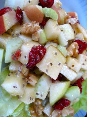 Raw Vegan Thanksgiving: Raw Vegan Waldorf Salad with Apple Chia Dressing | The Tera Warner Blog