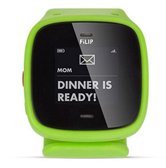 Filip text/phone & GPS tracker for child.     The Johnny Quest, 007.. Wrist communicator exists! 0.0