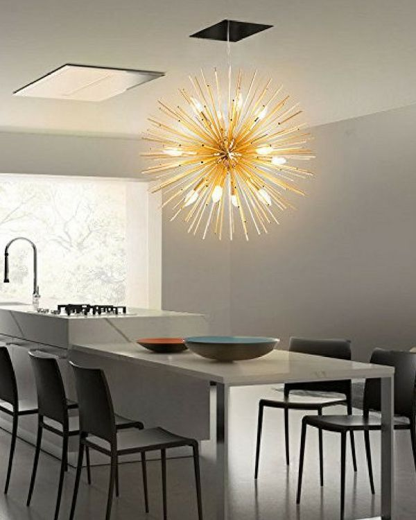 Modern Lighting Golden Starburst Chandelier Pendant Is A