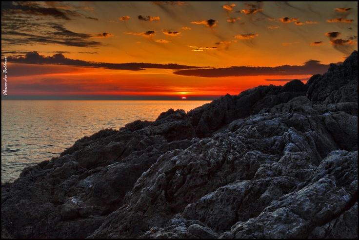 Tuscany sunset in Maremma