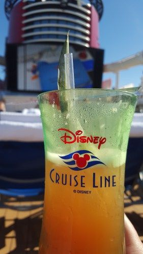 A great tip for saving money on a Disney Cruise is to order the Drink of the Day. it will save you about $4 each drink!