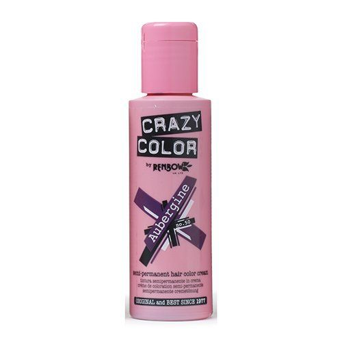 renbow crazy colour aubergine crme semi permanent 100 ml tweet coloration semi permanente - Coloration Semi Permanente Bleu