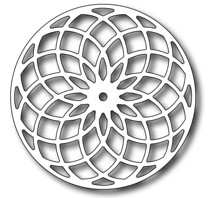 Frantic Stamper Precision Die - Floral Eye Dazzler Medallion,$10.49