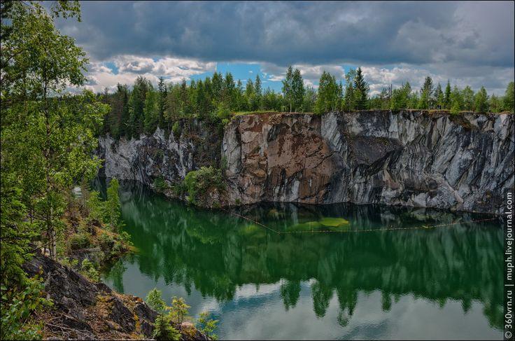 The Mountain Park Ruskeala, Republic of Karelia, Russia