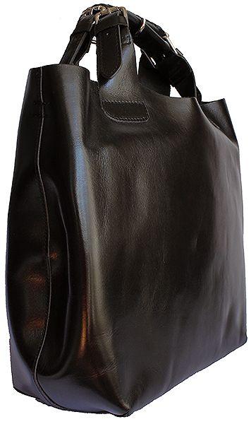 Italian Black Leather Tote/Shopper Handbag - Down to £49.99 from £79.99