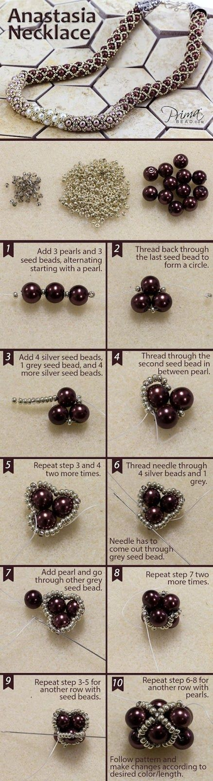 jewelry earrings on multi cones finishing bead diy best trish seed with a handmade pinterest beaded beads necklaces images statement w trishw necklace make strand