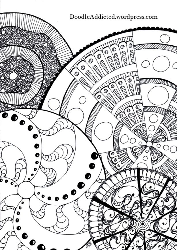"""""""The Wheels of Paralysis"""" doodle art by Heidi Denney 