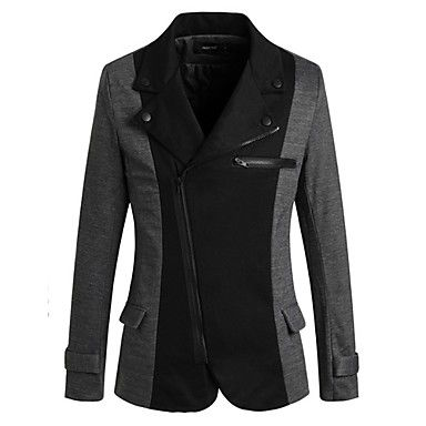 sportstreet мужская мода лацкан шеи оболочка блейзер - USD $ 25.99