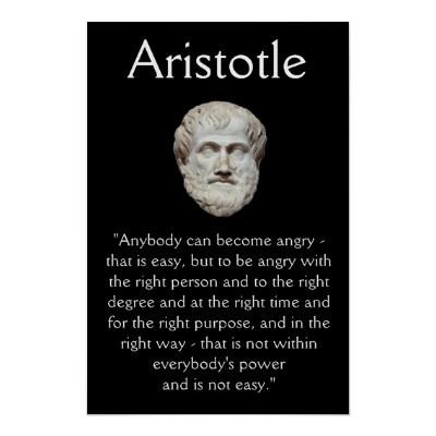 Aristotle - Anger Management Quote Poster | Zazzle.co.uk