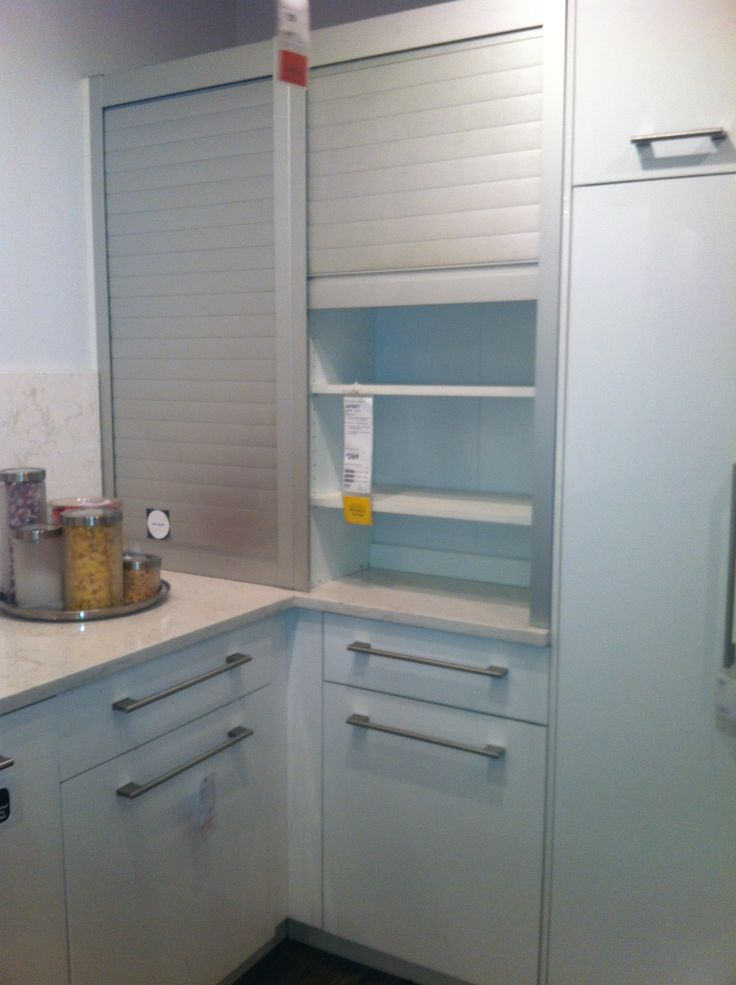 Appliance garage from ikea keep small column divider for Small kitchen in garage