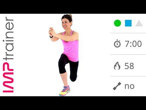 Esercizi Gambe e Glutei a Casa con Squat e Affondi - YouTube