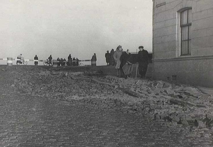 Scheveningen Storm 1953 Dijk Keizerstraat