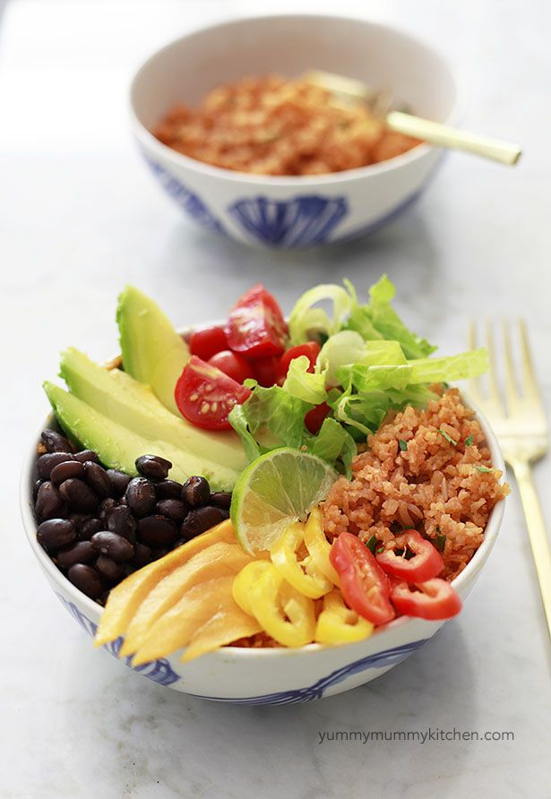 best ideas about Mexican rice bowls on Pinterest | Cilantro lime rice ...
