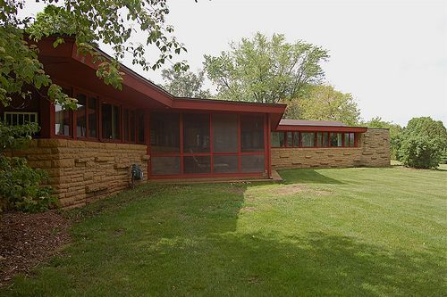 Richard Smith House. 1950. Jefferson, Wisconsin. Usonian Style. Frank Lloyd Wright.