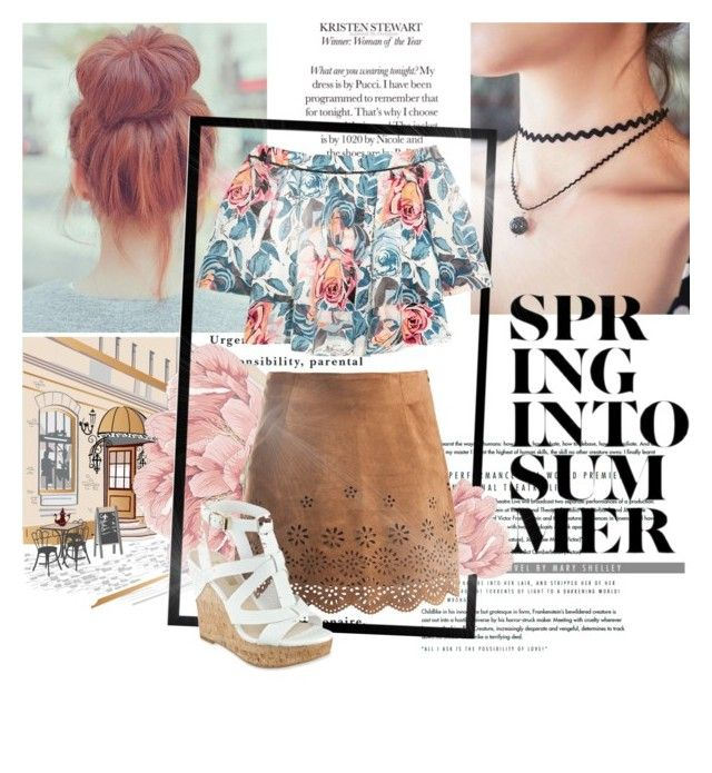 """Spring to Summer"" by shasasoso on Polyvore featuring Elizabeth and James, Sans Souci and GUESS"