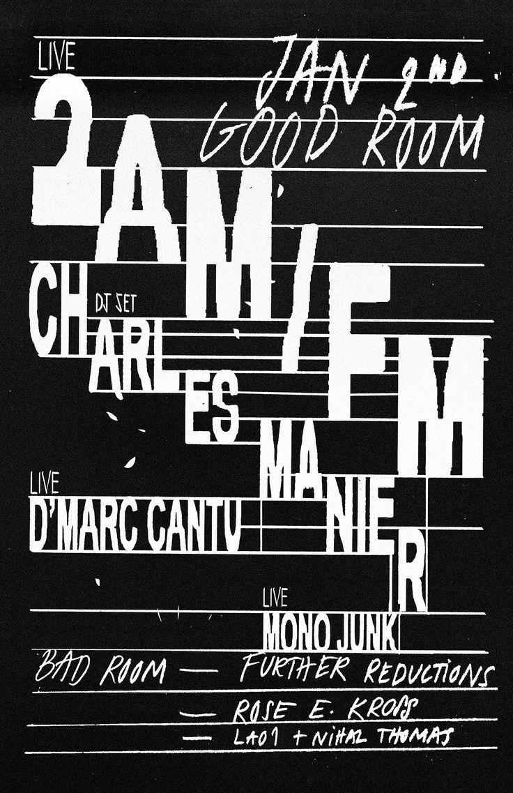 Poster design reference - 2am Fm Good Room Poster 2015