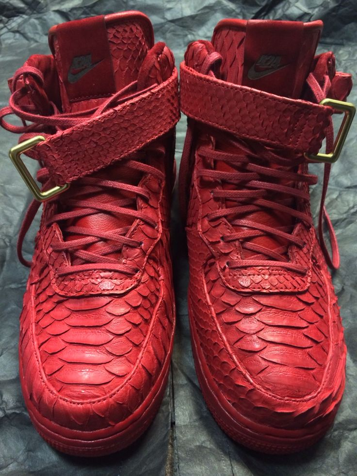 pretty nice ab96d 59006 Nike Air Force 1 Mid Red Python