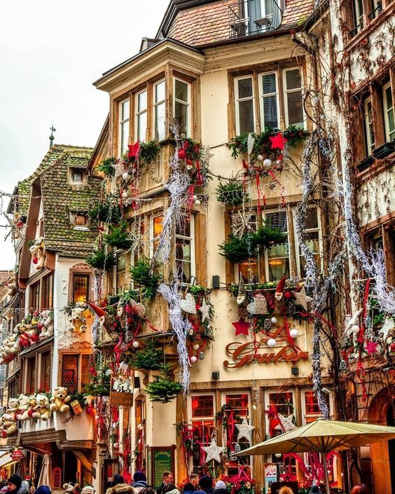 Strasbourg France Christmas Time.A Real Life Christmas Village Strausborg France
