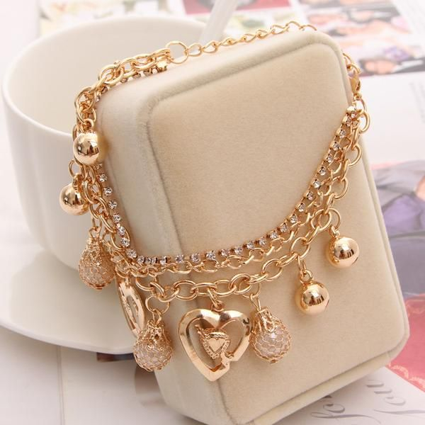 New Arrival Gold Plated Multi-Chain Bracelet. Up To 75% OFF + FREE SHIPPING!  #Bracelet #FreeShipping #DazzlingSeaJewelry