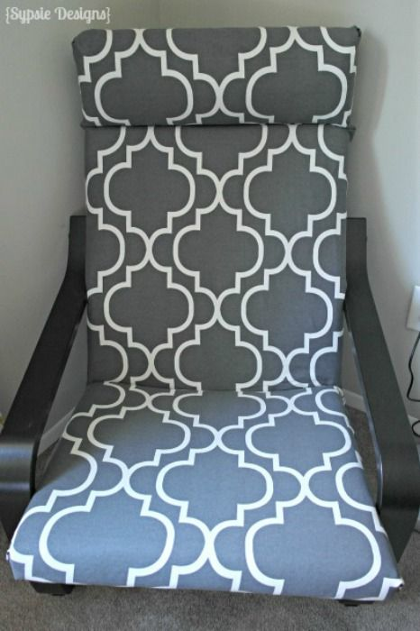 Reupholster Ikea Poang Chair ~ forward housse de poang plus make poang cover in grey and pink trd
