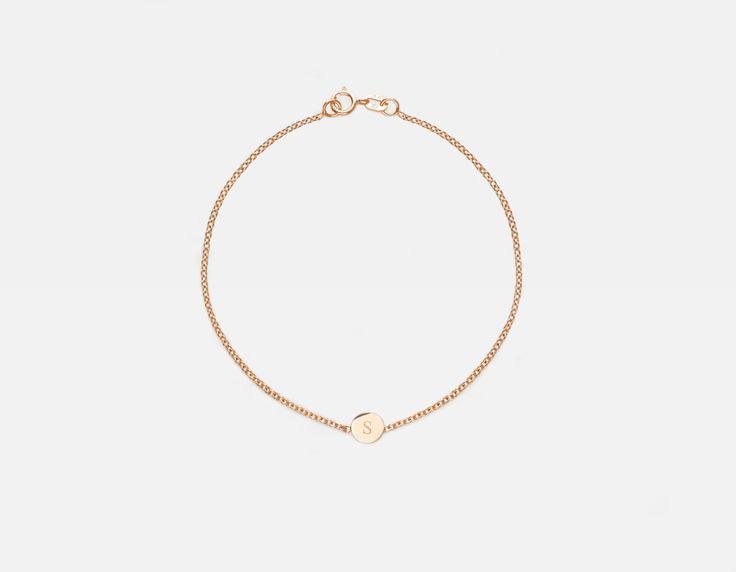 Vrai & Oro Initial Bracelet