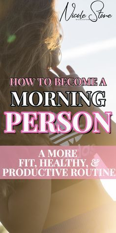 5 no-fail tips to becoming a morning person! learn how to wake up early, workout, be productive and feel better! These tips helped me go from a night owl to a morning person. 5 tips you need to follow. #morningperson #productivitytips