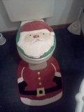 Santa toilet seat cover and mat.  Got it at Walmart.