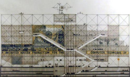 Renzo #Piano - Richard Rogers, Centre Pompidou, image de concours, 1971