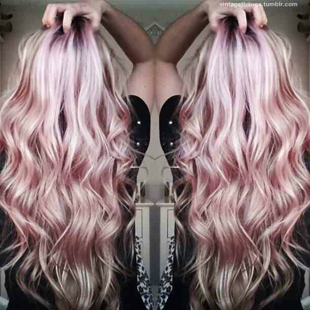 Peachy Pink Champagne Hair Color Amazing Fall Hair Pinterest The Fut