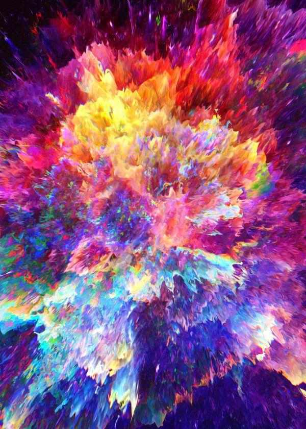 Hag Metal Poster Print Dorian Legret Displate Abstract Poster Abstract Digital Art Galaxy Painting