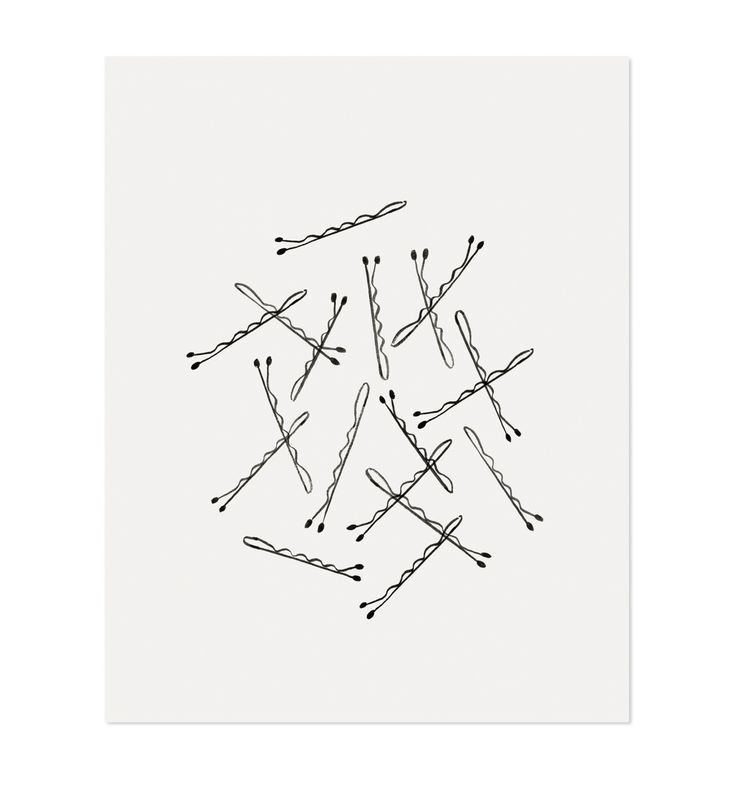 Bobby Pin print from rifle paper co