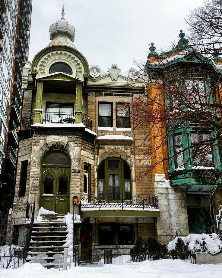 #architecture #houseportrait #montreal #winter #quebec #canada