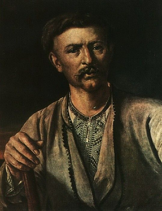 Украинец с палкой. 1820-е. Василий Андреевич Тропинин