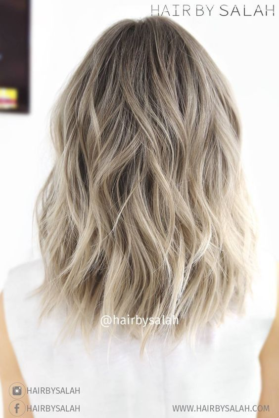 Light Ash Blonde Balayage , Lob Hair Styles for Thick Hair 2017