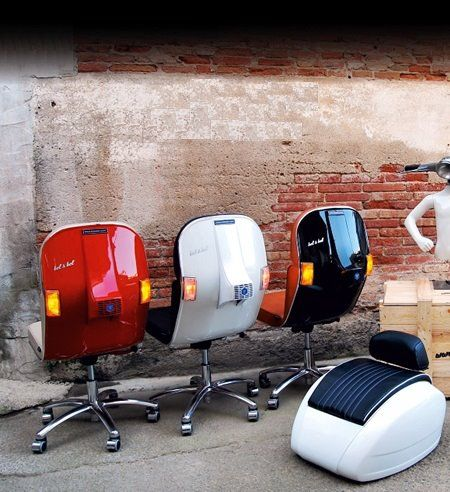 Vespa. . . chairs. 'nuf said. http://www.belybel.com/inici_eng_belybel.html